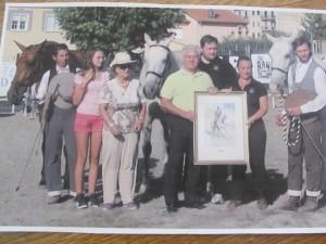 Entrega de una Acuarela al Ganador de la Feria del Caballo Piedrahita