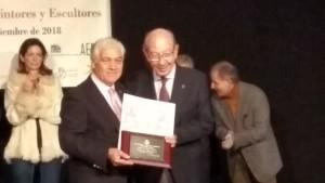Entrega del Premio de la Agrupacion Española de Acuarelistsa